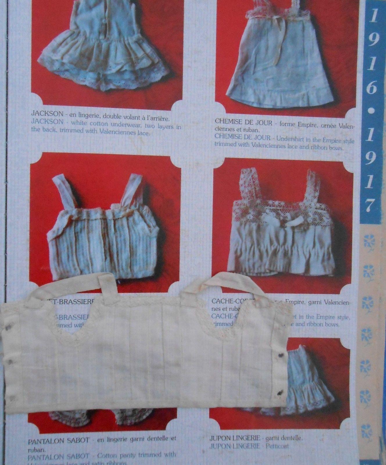 Ancienne Chemise Sous VÊtement Pour Bleuette Antique (pre-1930)