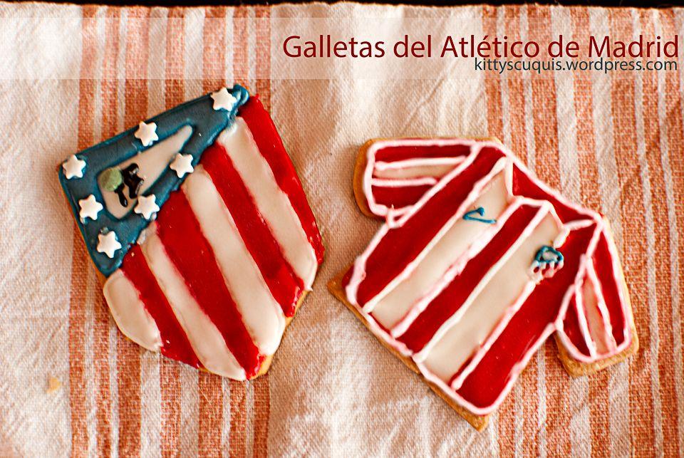 Galletas del Atlético de Madrid / Atlético de Madrid cookies #atléti #atléticodeMadrid #galletas #cookies #fútbol