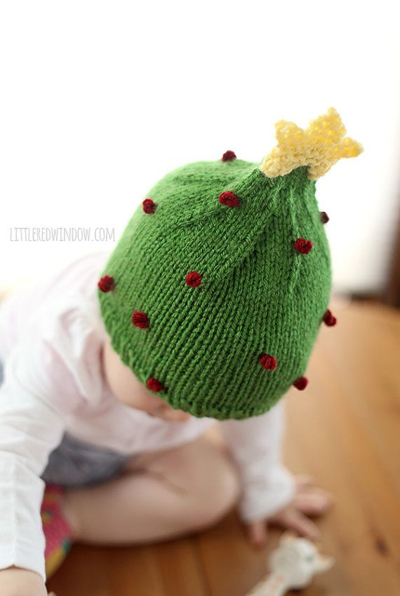 Christmas Tree Hat KNITTING PATTERN / My First Christmas / First ...