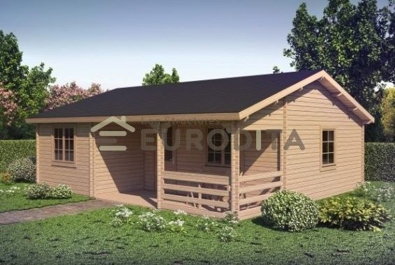 Eurodita 2 Bedroom Prefab House Log Cabin Pool House Guest House Kit ...