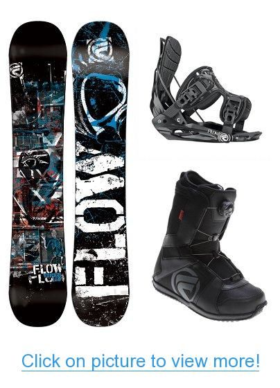 Board Size 154 Lamar ViperDancing Skulls Complete Snowboard Package with Flow Bindings and Flow Vega BOA Boots