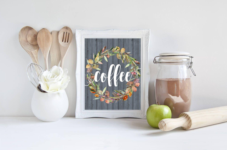Coffee sign printable coffee print coffee poster coffee