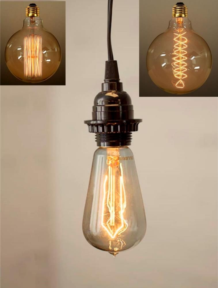 Edison Bulb Pendant Light Plug In Pendant Light Edison Bulb