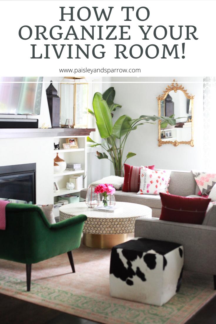 Living Room Organization Room Organization Cleaning Checklist