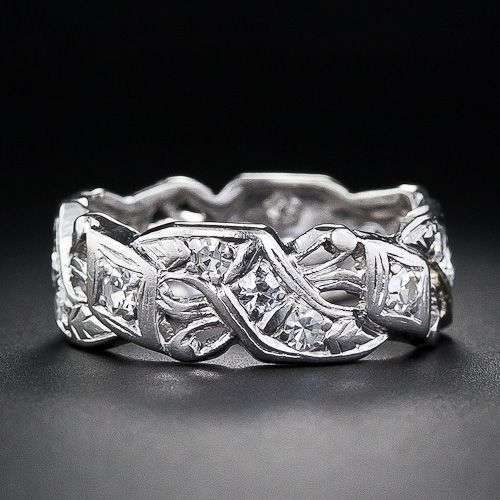 A Distinctive And Sparkling All-around Wedding Band, Or