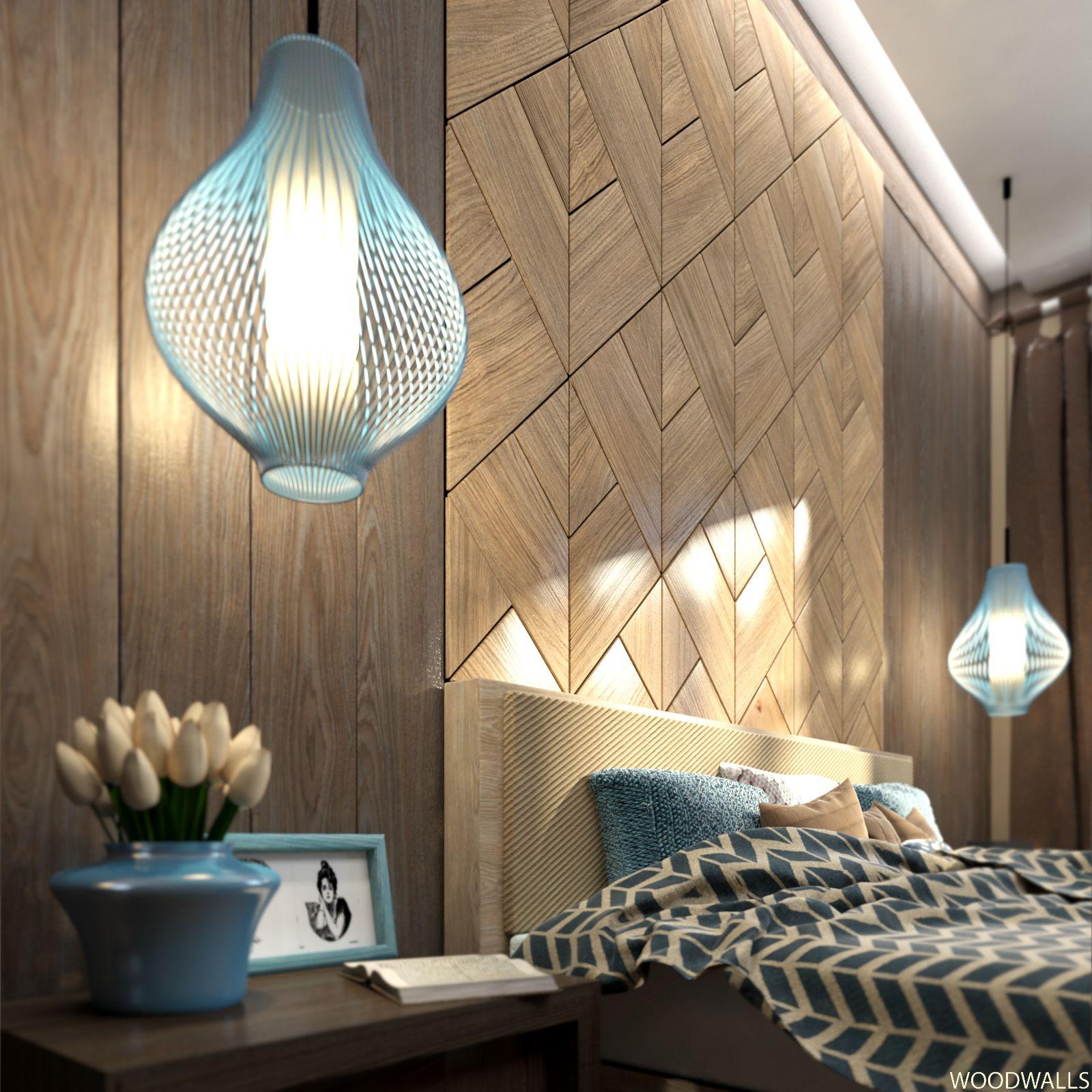 Wood Panel Ceiling Bedroom