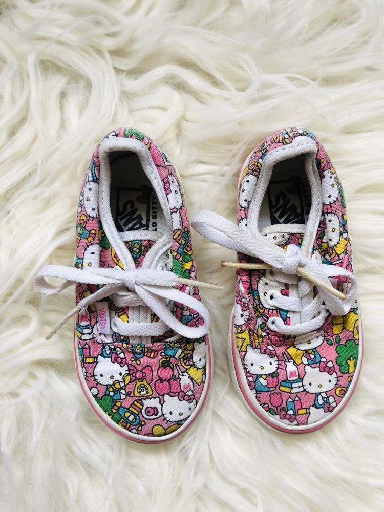 7497c838a5 GIRLs Hello Kitty Edition Vans Toddler Size 6  fashion  clothing  shoes   accessories