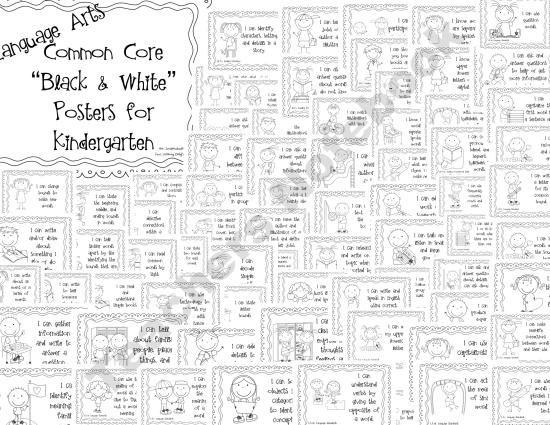 Common Core Standards Poster: Kindergarten Language Arts