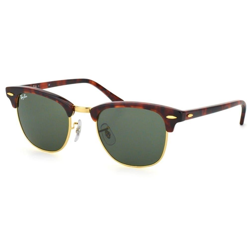 Ray-Ban Clubmaster RB3016 W0366   Green G15 Unisex Sunglasses. Lunettes De  ... 1d7de9e7c840