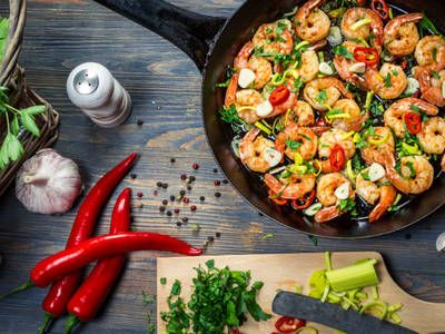 Photo of This shrimp skillet looks as though it's straight from the r…