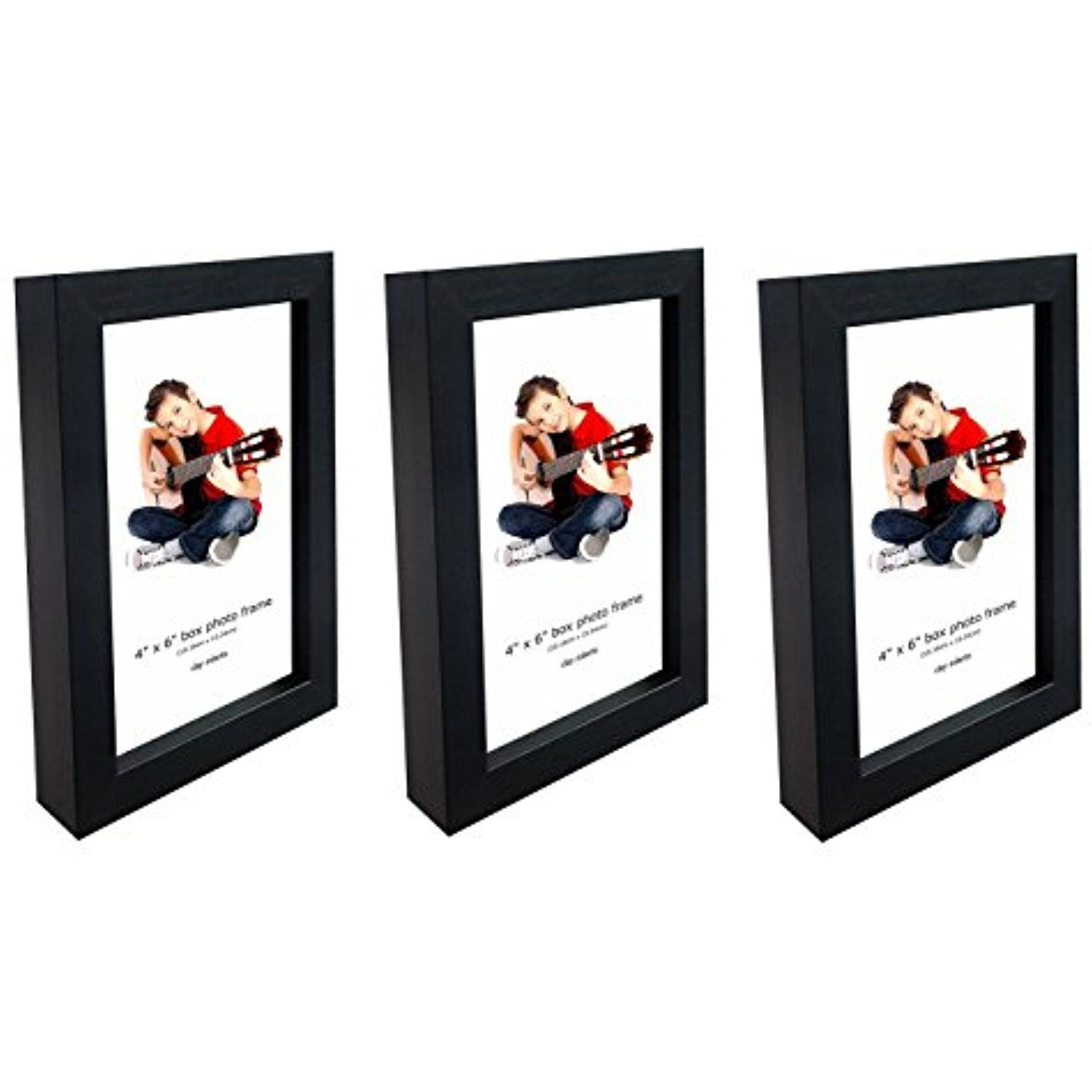 Photo Frames, 4 x 6 Inches, Pack of 3, Standard Photograph Size ...