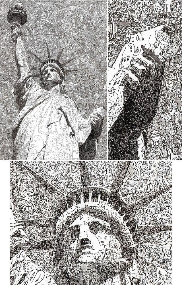 Chegue mais perto dessas ilustrações