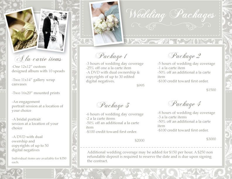Wedding Photography Prices And Packages How Much Do Wedding Photographers Cost Wedding Photography Pricing Wedding Photography Packages Wedding Photographer Cost