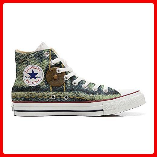 Converse All Star Slim Customized personalisierte Schuhe (Handwerk Schuhe) Camomil Texture