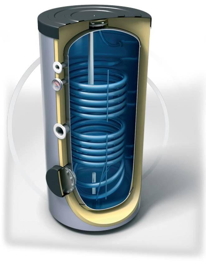 Buffervat 300 Liter, indirect gestookt, geschikt als zonneboiler buffervat, met twee coils - Techniq-Energy   Maatwerk in Zonneboilers