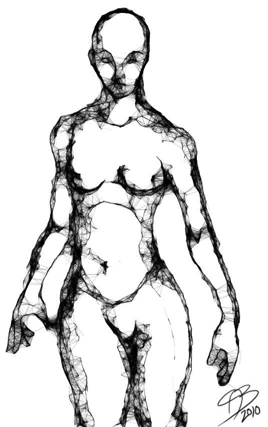 Mujer desnuda dibujando