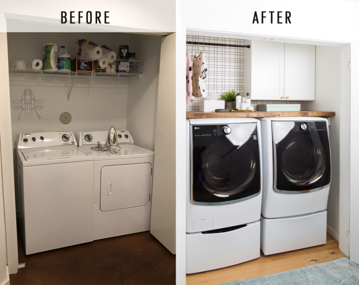 Best Top 25 Small Laundry Room Makeovers Ideas With Before And 400 x 300