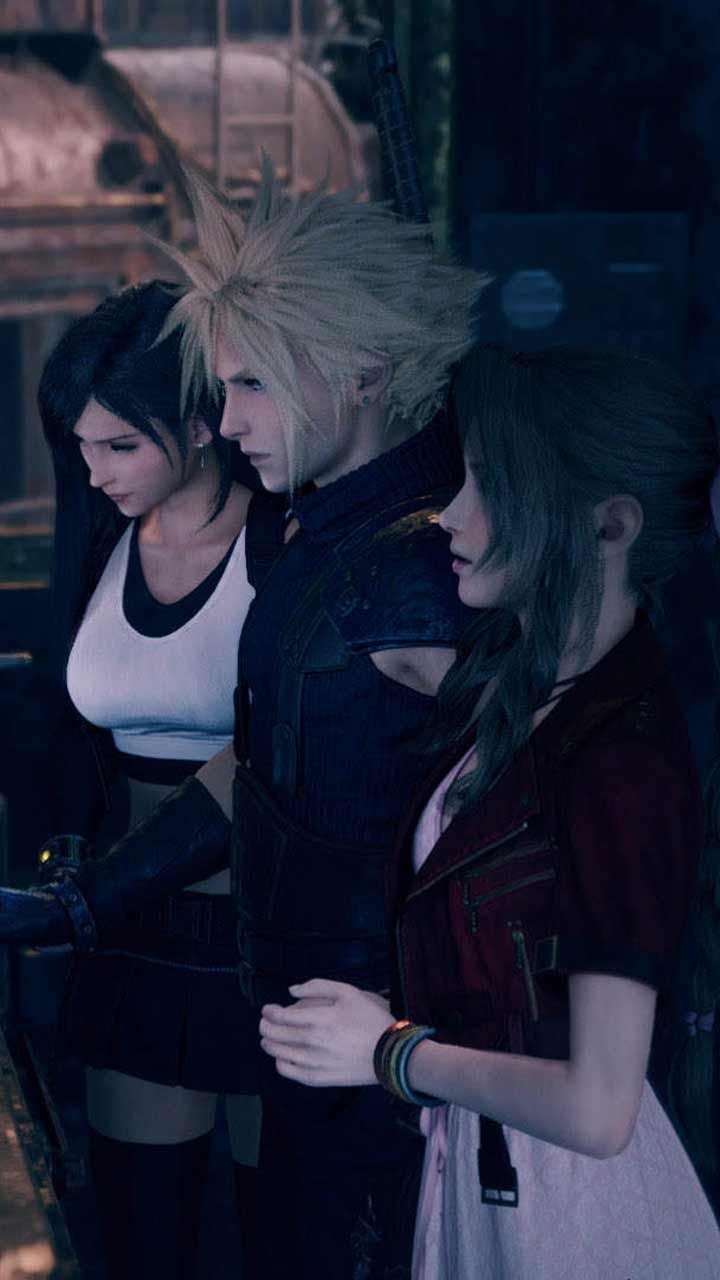 Final Fantasy 7 Remake Wallpaper Hd Phone Backgrounds Ps4 Game Art Poster Logo On Iphone Andr In 2020 Final Fantasy Art Final Fantasy Vii Cloud Lightning Final Fantasy