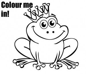 Free frog coloring page  its a prince baby  Coloring Kid and