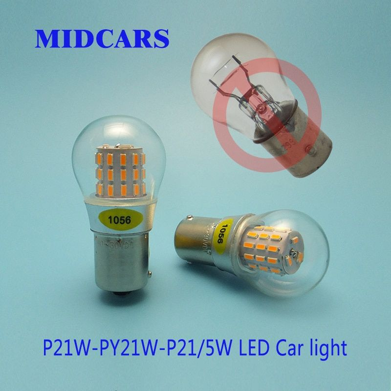 Universe Of Goods Buy Midcars Py21w Bau15s P21w 12v Led 1156 Ba15s Red Yellow P215w Brake Bay15d Bulb Motorcycle Turn Sig Car Lights Light Bulb Lamp 12v Led
