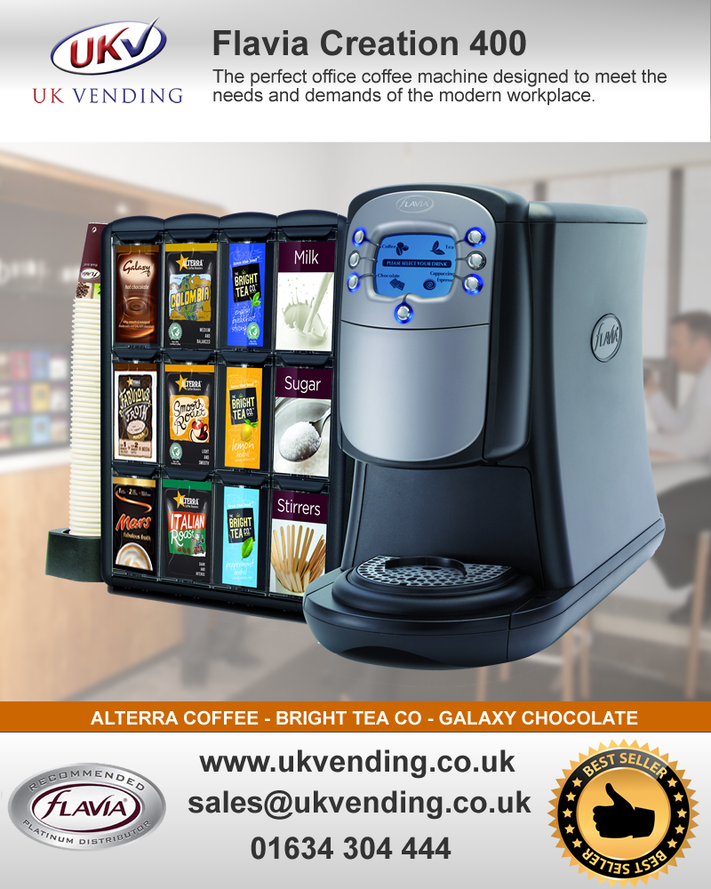 FLAVIA CREATION 400 The Perfect Office Coffee Machine Designed To Meet The  Needs And Demands Of