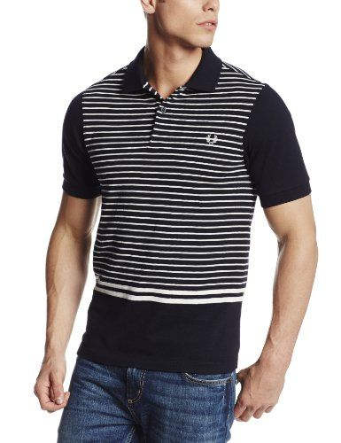 9f01de14 Black Friday Fred Perry Men's Striped Tipping Polo, Navy, X-Large from Fred  Perry Cyber Monday