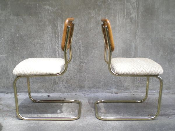 Seattle: Vintage Pair Of Bent Tubular Metal Chairs With Cane Back. $95    Http