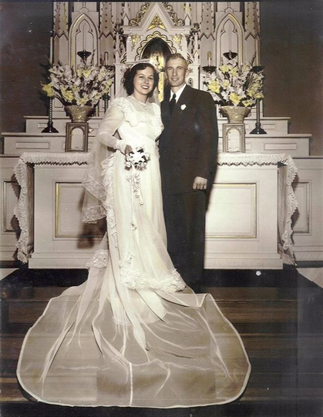 e66e8792a8d Свадебное платье 1940 годов