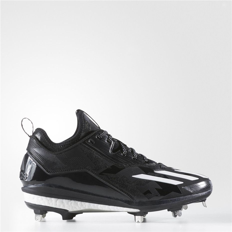 best sneakers 0327a f2b8b Adidas Boost Icon 2.0 Cleats (Core Black   Running White   Metallic Silver)