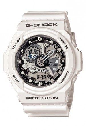 10c2cbf97138c Montre Casio G-Shock Blanche GA-300-7AER Cher papa cette montre je la  choisit pour toi car tu est le plus beau et gentil papa que la terre ai  porté je ...