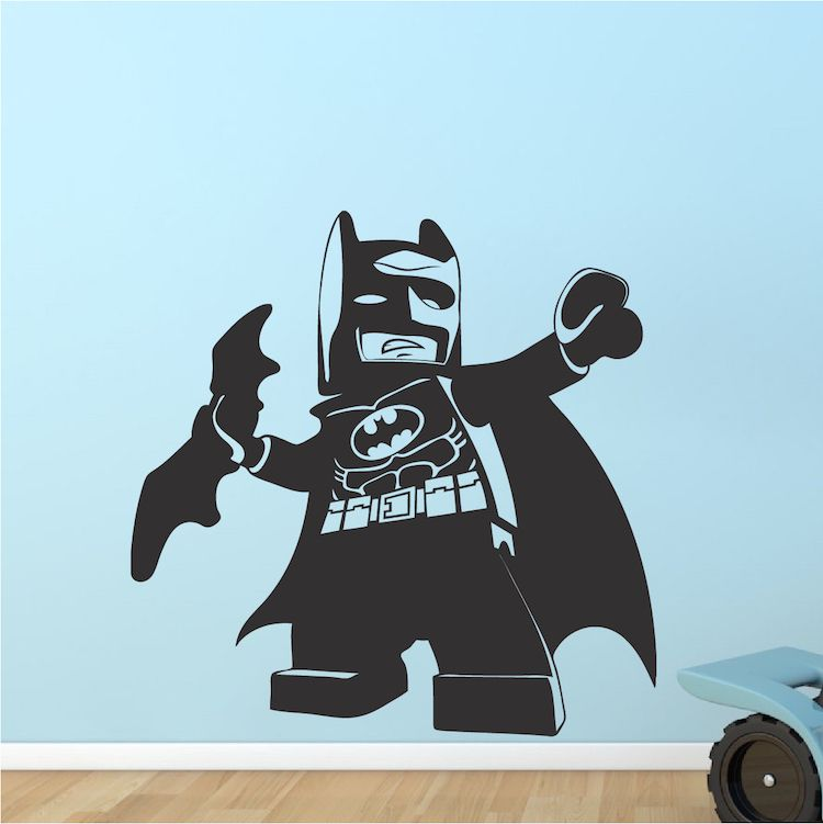 Lego Batman Kids Bedroom Decal Sticker Lego Movie Batman Wall