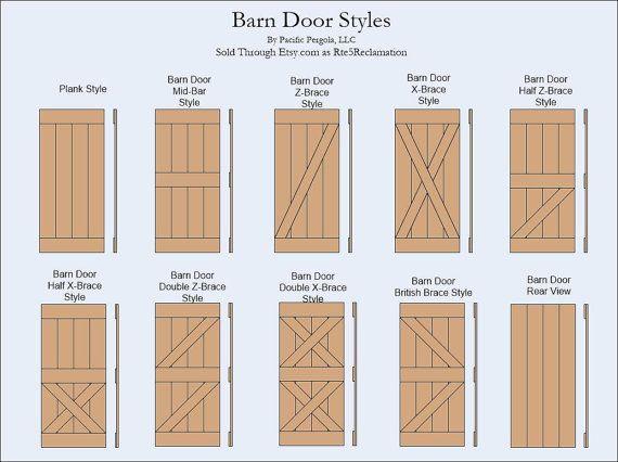 Barn Door Z Brace Style Rustic Reclaimed Rough Cut Barn Wood