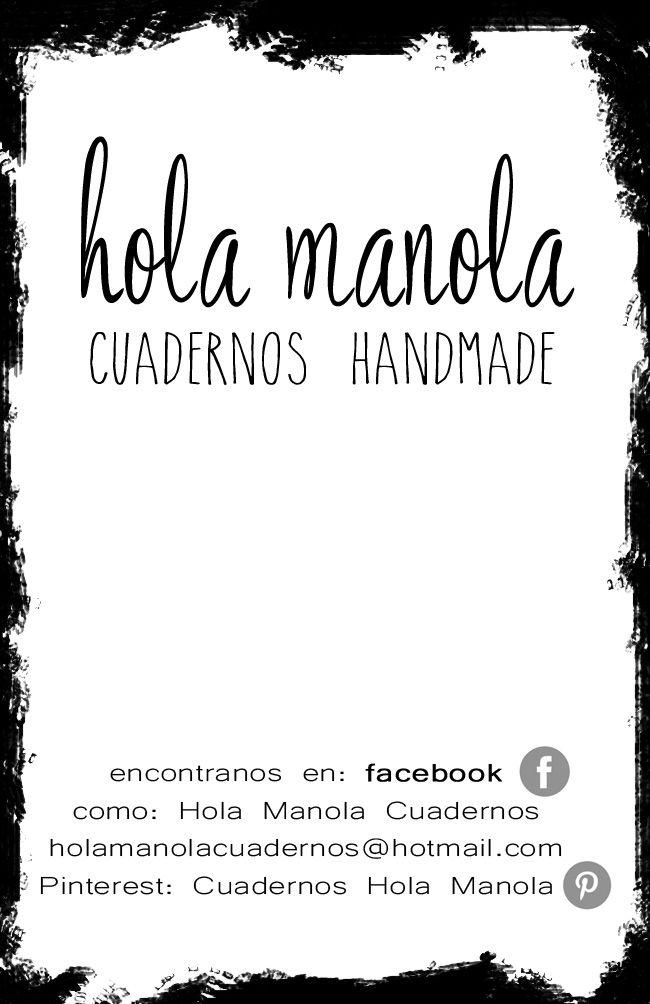 Tarjetita de visita Hola Manola