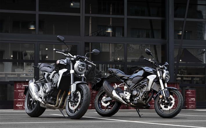 Download Wallpapers Honda CB300R 2018 4k Cool Motorcycle Black Motorcycles