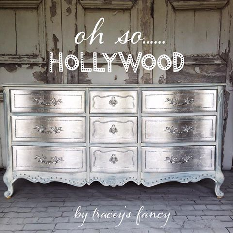 How To Paint A Glamours Silver Metallic Dresser It Easy Get This Gorgeous Finish In Cool Tone Or Warm Gold One