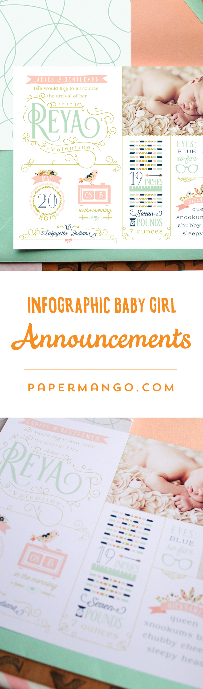 Introduce your baby girl to the world with these personality – Indiana Birth Announcements