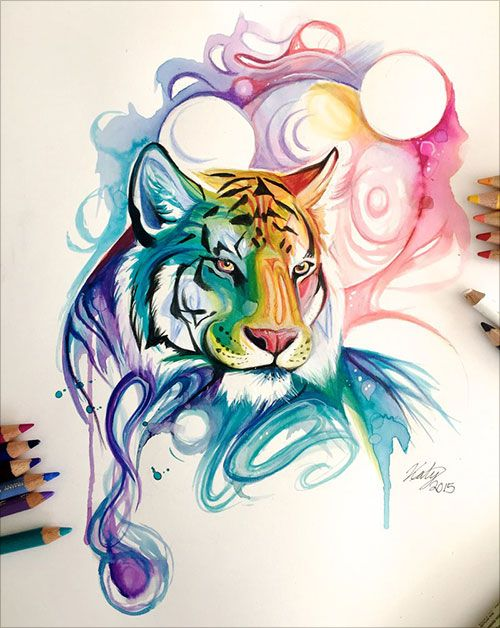 50+ Inspiring Color Pencil Drawings of Animals By Katy Lipscomb
