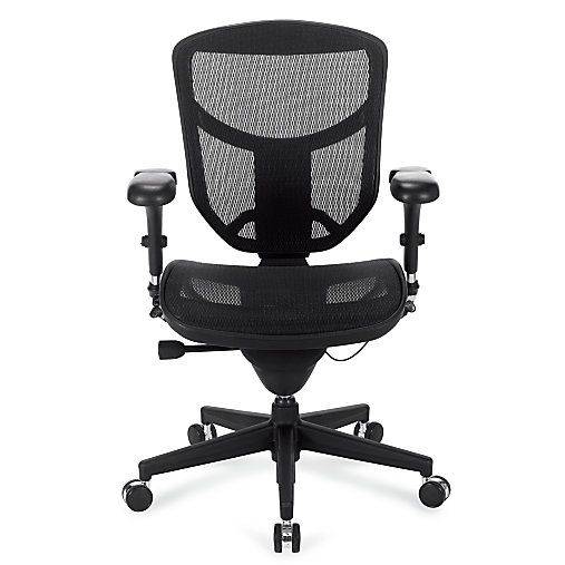 Workpro Pro Quantum 9000 Series Ergonomic Mesh Mid Back Chair Black By Office Depot Officemax