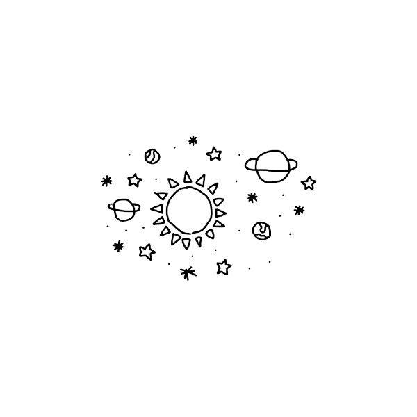 We It Cute Little Drawings Space Drawings Planet Drawing