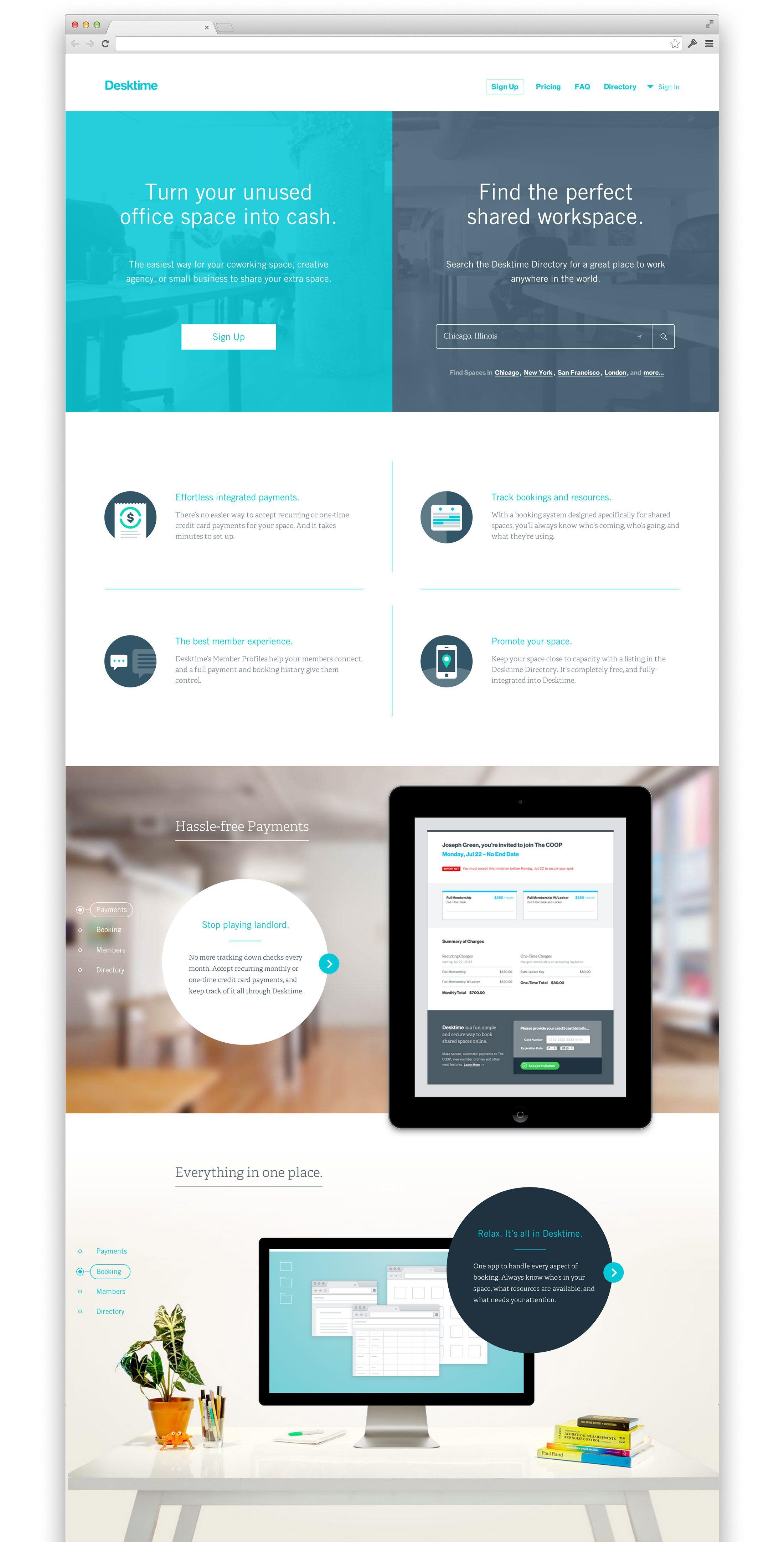 Desktime One Design Company Chicago Web Design