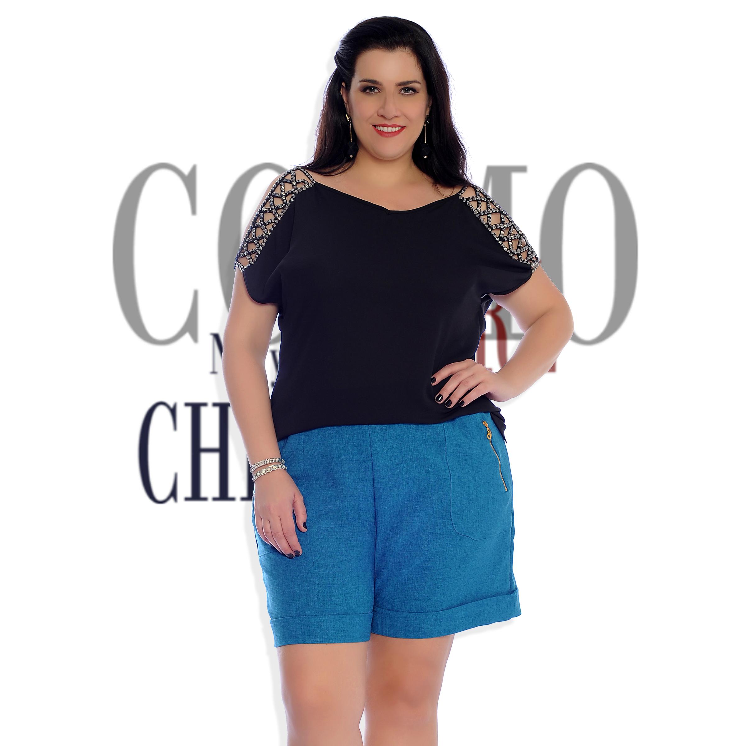 14052a20c Cod 10267 - Blusa em viscose com mangas customizadas em bordados de  caimento soltinho, super feminino e moderno. Confiram online  www.fammix.com.br #fammix ...