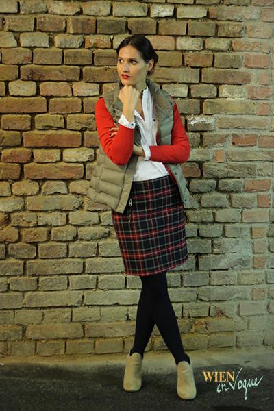 WIEN EN VOGUE: FASHION INSIGHT: // Karo – all time favourite im Herbst // #karo #checked #skirt #karorock