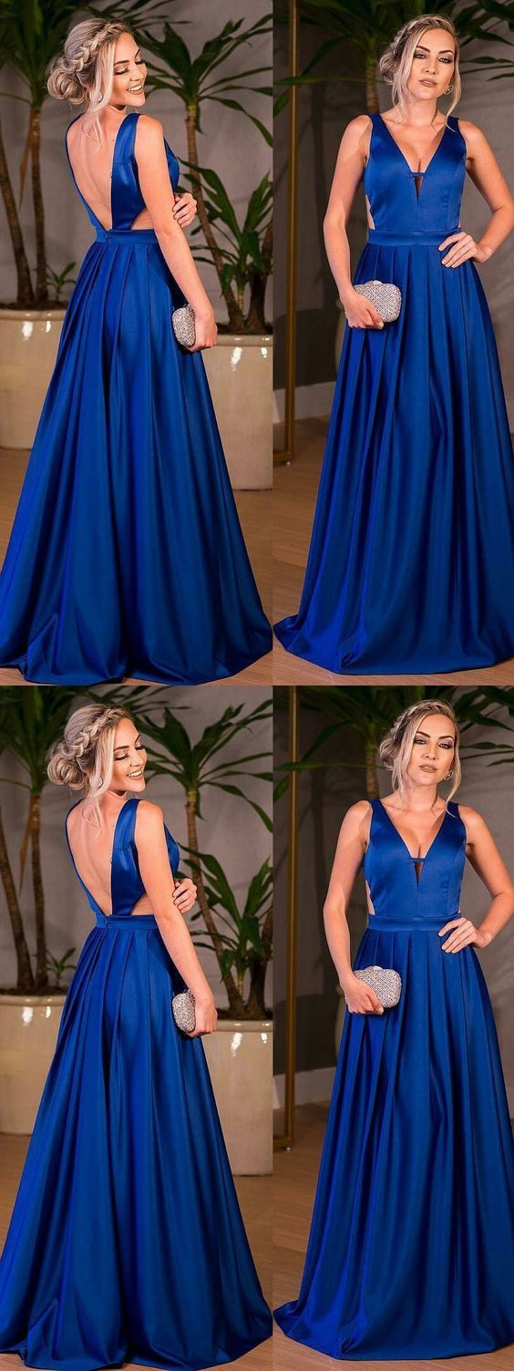 chic a line prom dress modest v neck cheap simple long prom