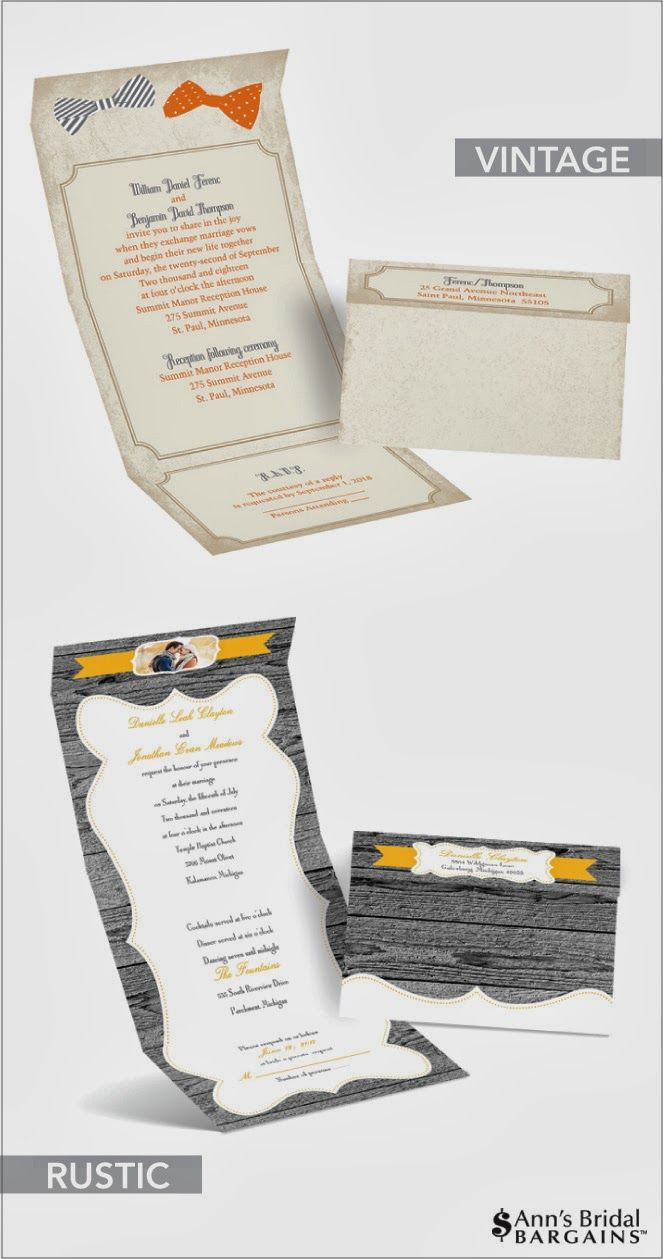 Seal & Send Wedding Invitations by Ann\'s Bridal Bargains + Special ...