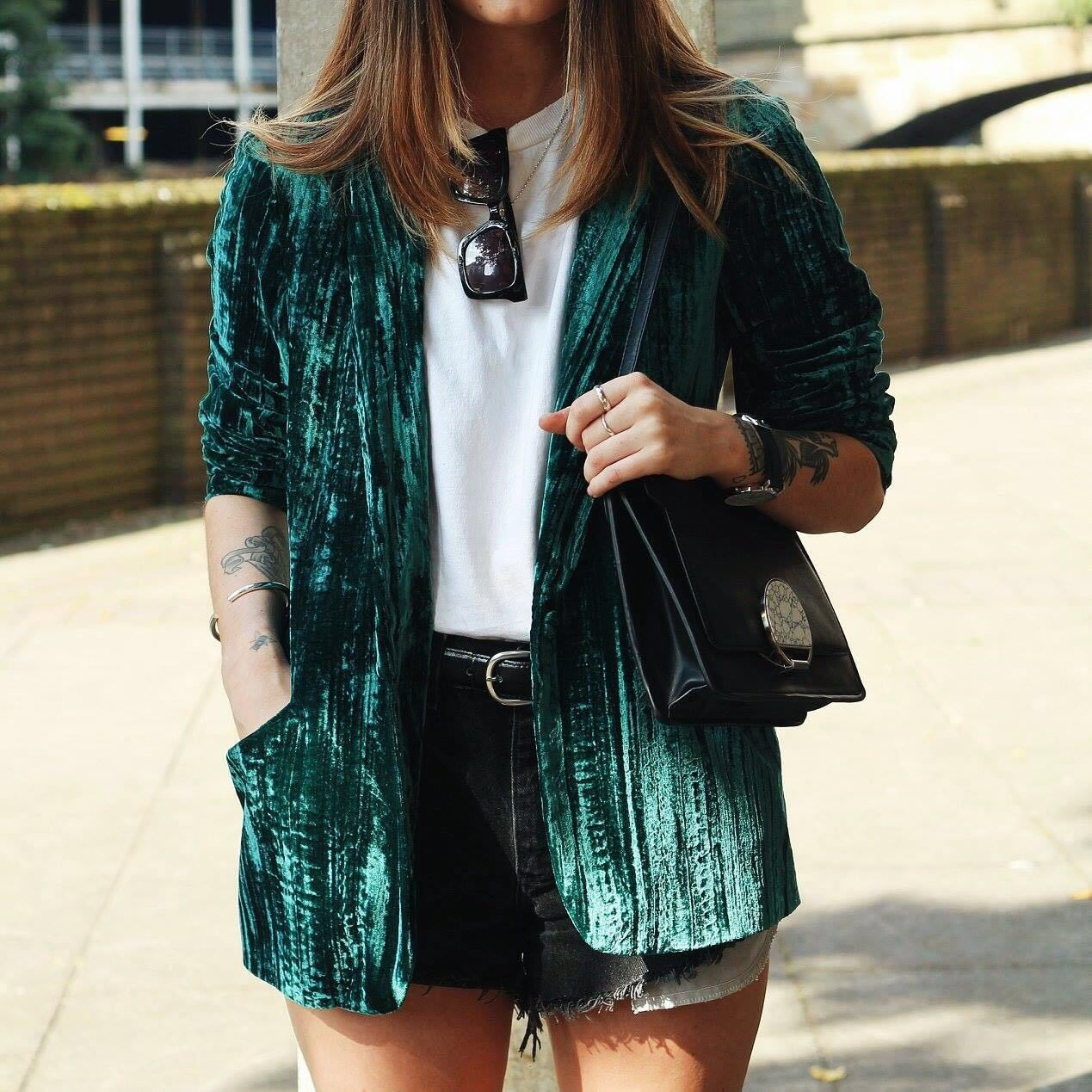 Investing In Street Appeal With Style: Crinkle Velvet Blazer