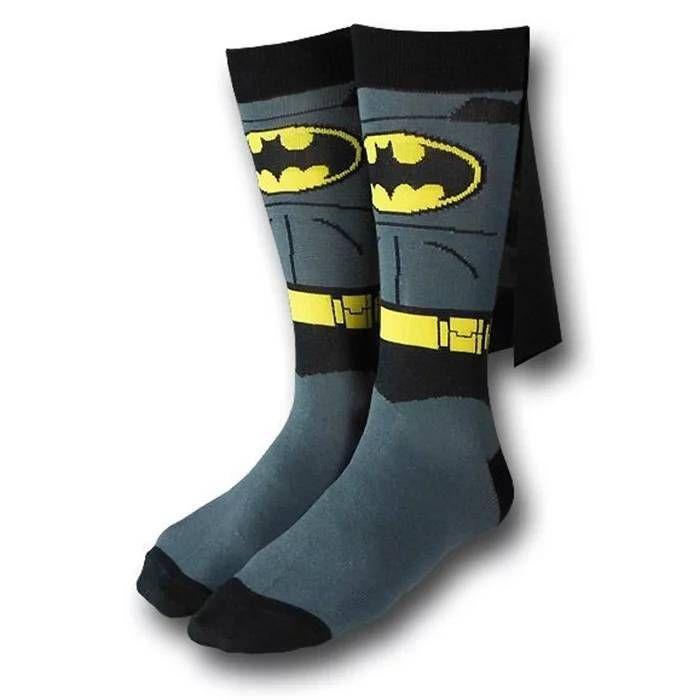 Batman Costume With Cape Crew Socks
