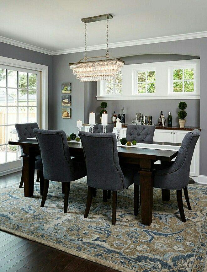 Darker Grey Tones Dining Room Inspiration Dark Wood Dining