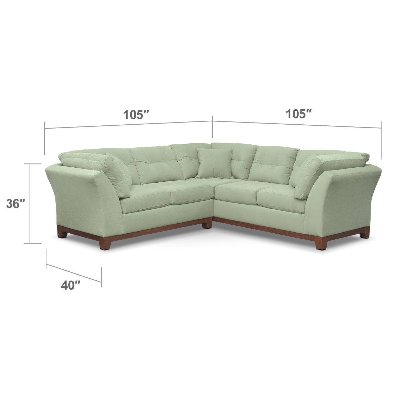 Solace Spa II 2 Pc Sectional Alternate II