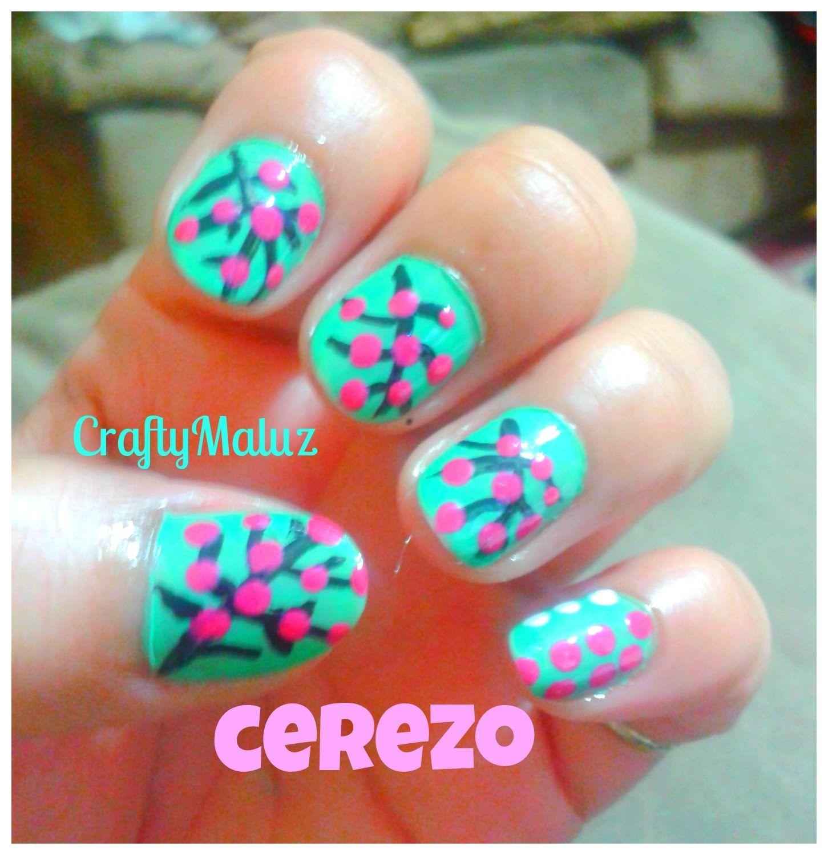 DIY ♥ Diseño de uñas Faciles flor de cerezo / Cherry Blossom Nail ...