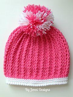 d816cfda853 Ribbed Pre-School Size Hat pattern by Jenni Catavu